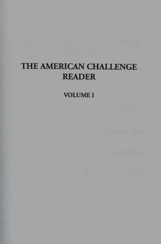 دانلود کتاب The American Challenge Reader [Volume 1