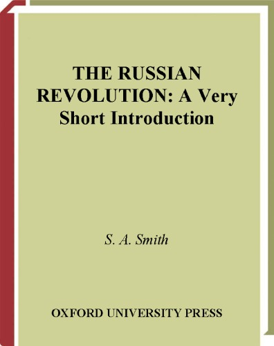 دانلود کتاب A Very Short IntroductionThe Russian Revolution از ستاتیرا