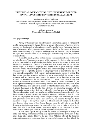 دانلود کتاب [Article] HISTORICAL IMPLICATIONS OF THE PRESENCE OF NON-MAYAN LINGUISTIC FEATURES IN MAYA SCRIPT از ستاتیرا