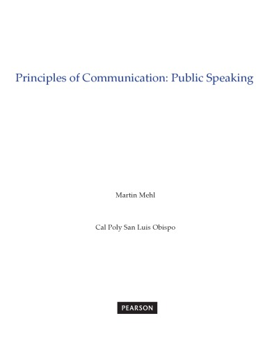 دانلود کتاب Principles of Communication: Public Speaking 9781323543030