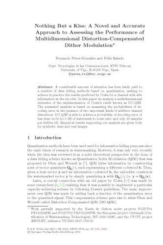 دانلود کتاب Multidimensional Distortion-Compensated Dither Modulation از ستاتیرا
